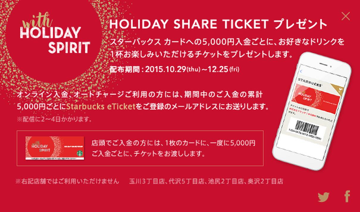 holiday spirit スターバックスカード