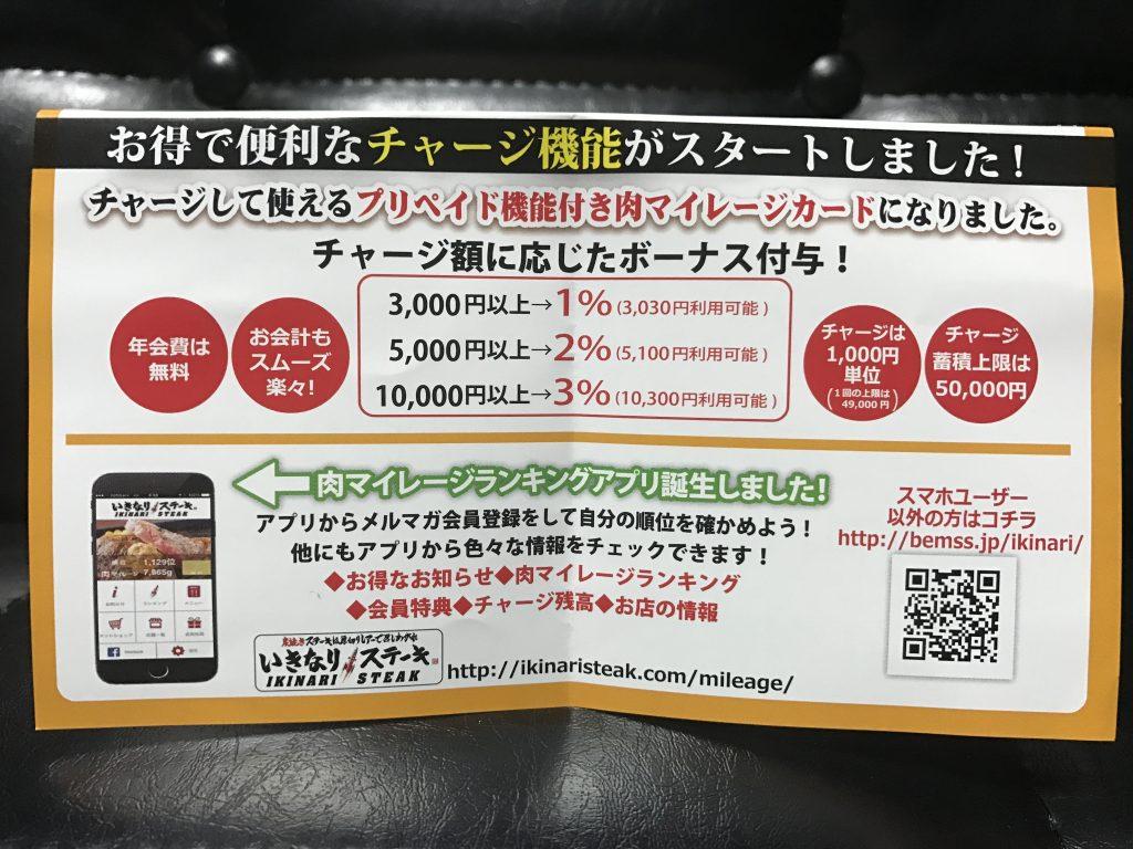 いきなりステーキ 肉マイレージ 3