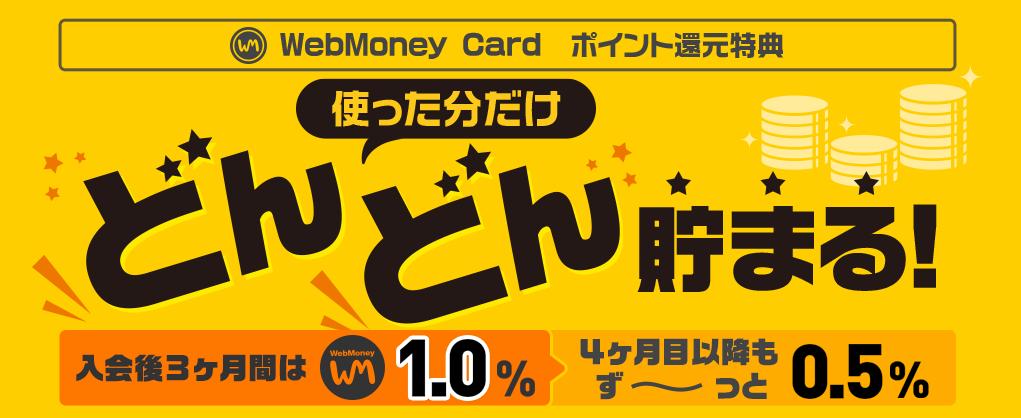 WebMoney Card ポイント 1