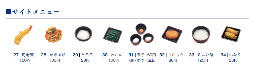 ゆで太郎 トッピング 1